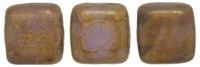 CzechMates Two Hole Tile 6mm - CZTWN06-CT21210 - Mikly Alexandrite - Copper Picasso 25 Beads