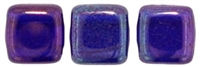 CzechMates Two Hole Tile 6mm - CZTWN06-E3009 - Cobalt - Vega - 25 Beads