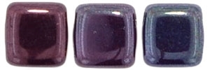 CzechMates Two Hole Tile 6mm - CZTWN06-E9010 - Ruby - Vega - 25 Beads