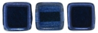 CzechMates Two Hole Tile 6mm - CZTWN06-K5308 - Mirror - Denim - 25 Beads