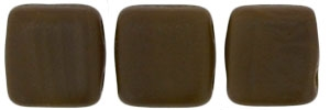 CzechMates Two Hole Tile 6mm - CZTWN06-M13720 - Matte - Chocolate Brown - 25 Beads