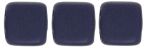CzechMates Two Hole Tile 6mm - CZTWN06-M33410 - Navy - Matte - 25 Beads