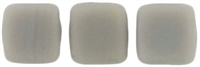 CzechMates Two Hole Tile 6mm - CZTWN06-M43020 - Ashen Grey - Matte - 25 Beads
