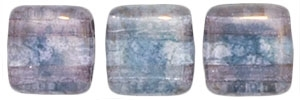 CzechMates Two Hole Tile 6mm - CZTWN06-MD0003 - Crystal - Moon Dust - 25 Beads