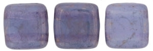 CzechMates Two Hole Tile 6mm - CZTWN06-MD22310  - Moon Dust - Milky Alexandrite - 25 Beads