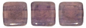 CzechMates Two Hole Tile 6mm - CZTWN06-MD71010 - Milky Pink - Moon Dust - 25 Beads