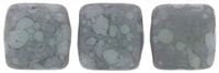CzechMates Two Hole Tile 6mm - CZTWN06-MMD6310 - Matte Opaque Pale Turquoise - Moondust 25 Beads