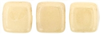 CzechMates Two Hole Tile 6mm Opaque - Luster Champagne 25 Beads