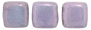 CzechMates Two Hole Tile 6mm Luster - Opaque Amethyst 25 Beads