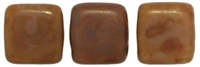 CzechMates Two Hole Tile 6mm - CZTWN06-T12010  - Brown Caramel - Picasso - 25 Beads