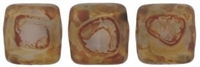 CzechMates Two Hole Tile 6mm - CZTWN06-T21210 - Mikly Alexandrite - Picasso 25 Beads