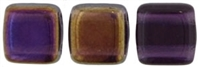 CzechMates Two Hole Tile 6mm Twighlight - Tanzanite 25 Beads