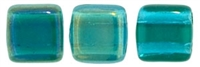 CzechMates Two Hole Tile 6mm Twilight - Teal 25 Beads
