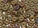 CZWB-01670 - 6mm Wheel Bead Zinc Iris - 25 Count