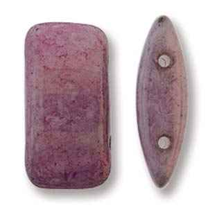 CarrierDuo-P14494 - 9x17 Two Hole Carrier Duo Beads - Lilac Luster - 10 Count