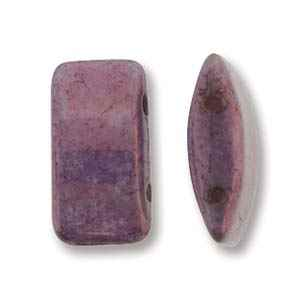 CarrierDuo-P157216 - 9x17 Two Hole Carrier Duo Beads - Purple Vega - 10 Count