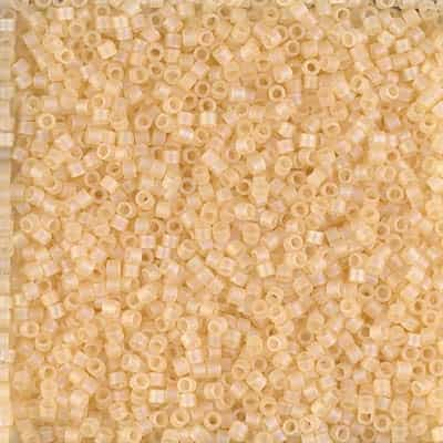 Miyuki Delica Seed Beads 5g 11/0 DB1287 Transparent Matte Luster Ginger Ale