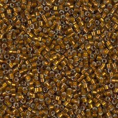 Miyuki Delica Seed Beads 5g 11/0 DB1681 TSL Light Walnut Brown