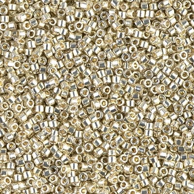 Miyuki Delica Seed Beads 5g 11/0 DB1831 Duracoat Silver