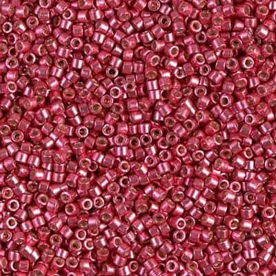 Miyuki Delica Seed Beads 5g 11/0 DB1841 Duracoat Light Cranberry