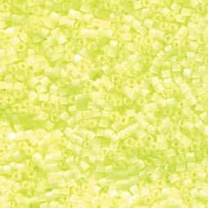 Miyuki Delica Seed Beads 5g 11/0 DB1857 Satin Inside Dyed Luminous Chartreuse
