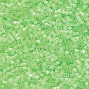 Miyuki Delica Seed Beads 5g 11/0 DB1858 Satin Inside Dyed Luminous Bright Lime