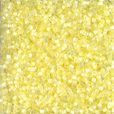 Miyuki Delica Seed Beads 5g 11/0 DB1873 Inside Dyed Rainbow Pale Pastel Yellow Satin