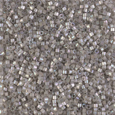 Miyuki Delica Seed Beads 5g 11/0 DB1877 Inside Dyed Rainbow Nearly Grey Satin
