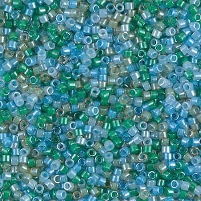 Miyuki Delica Seed Beads 5g 11/0 DB2067 Luminous Mermaid Waves Mix