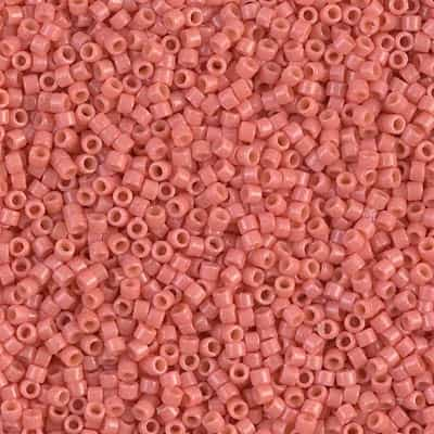 Miyuki Delica Seed Beads 5g 11/0 DB2114 Duracoat Opaque Dyed Dark Salmon Pink