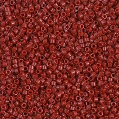 Miyuki Delica Seed Beads 5g 11/0 DB2119 Duracoat Opaque Dyed Light Maroon