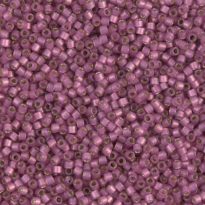 Miyuki Delica Seed Beads 5g 11/0 DB2181 Duracoat Silver Lined Dyed Light Berry Ice