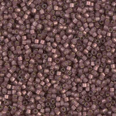 Miyuki Delica Seed Beads 5g 11/0 DB2183 Duracoat Silver Lined Matte Dyed Dusky Raisin