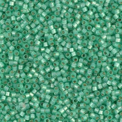 Miyuki Delica Seed Beads 5g 11/0 DB2188 Duracoat Silver Lined Matte Dyed Spearmint