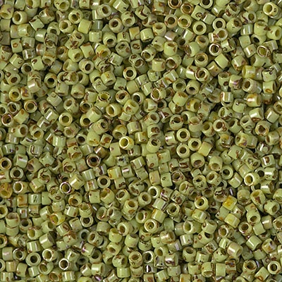Miyuki Delica Seed Beads 5g 11/0 DB2265 Picasso Key Lime