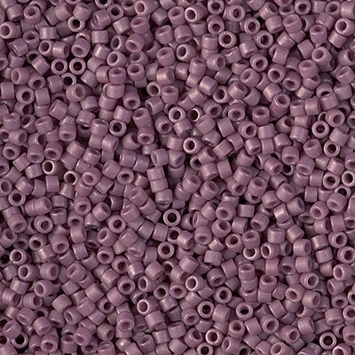 Miyuki Delica Seed Beads 5g 11/0 DB2295 Opaque Matte Glazed Sangria