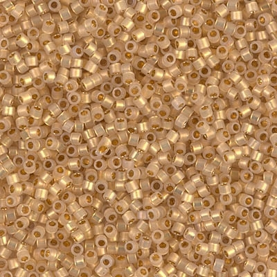 Miyuki Delica Seed Beads 1g 11/0 DB0230 ICL Opal/24 KT Gold Plated