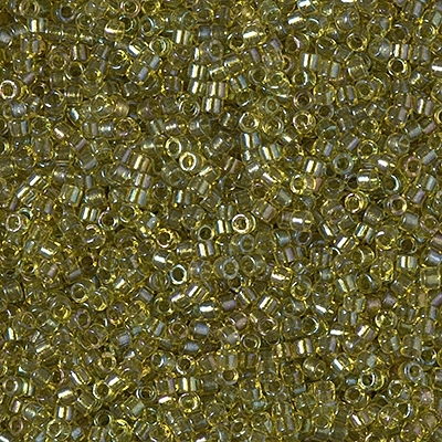 Miyuki Delica Seed Beads 5g 11/0 DB2377 Inside Color Lined Dyed Pistachio