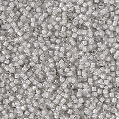 Miyuki Delica Seed Beads 5g 11/0 DB2391 Inside Color Lined Dyed Silver Cloud