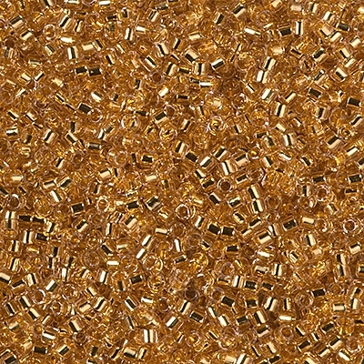 Miyuki Delica Seed Beads 1g 11/0 DB2521 24 KT Gold Plated Lined Royal