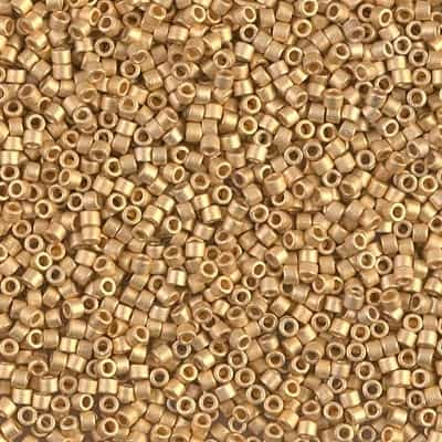 Miyuki Delica Seed Beads 1g 11/0 DB0031 24 MA KT Gold Plated
