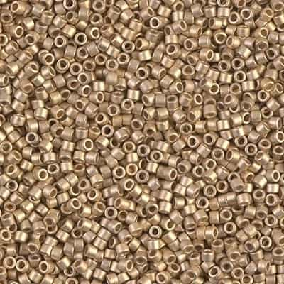 Miyuki Delica Seed Beads 1g 11/0 DB0334 MA 24 KT Dark Gold Plated