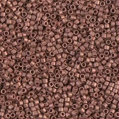 Miyuki Delica Seed Beads 5g 11/0 DB0340 M MA Copper Plated