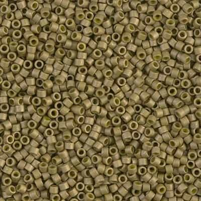 Miyuki Delica Seed Beads 5g 11/0 DB0371 M MA Golden Olive
