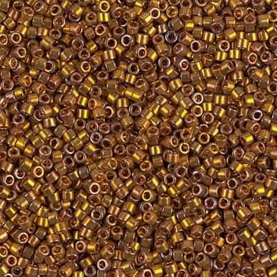 Miyuki Delica Seed Beads 1g 11/0 DB0505 24 Kt Bronze Gold Plated