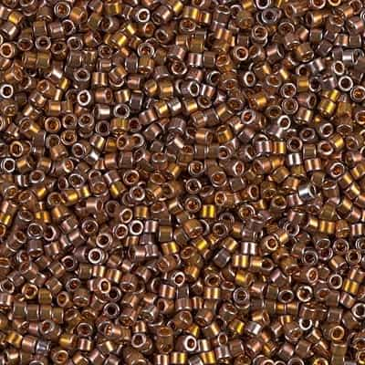 Miyuki Delica Seed Beads 1g 11/0 DB0506 24 Kt Dk Copper Gold Plated