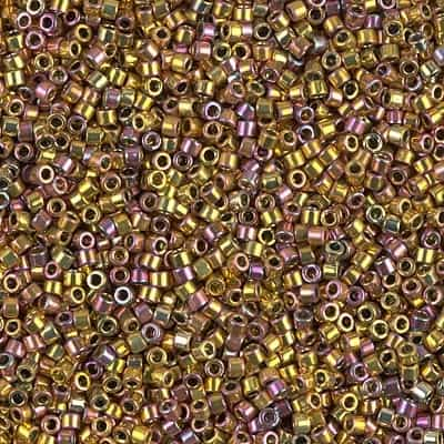 Miyuki Delica Seed Beads 1g 11/0 DB0507 24 Kt Rose Gold Plated