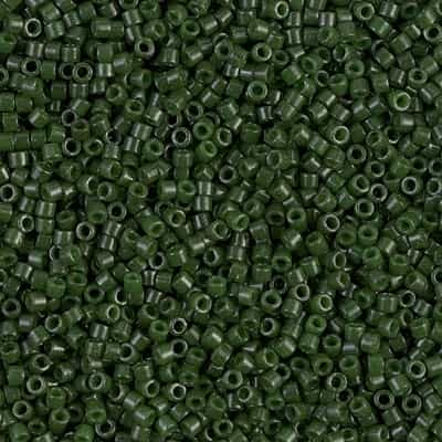 Miyuki Delica Seed Beads 5g 11/0 DB0663 OP Forest Green