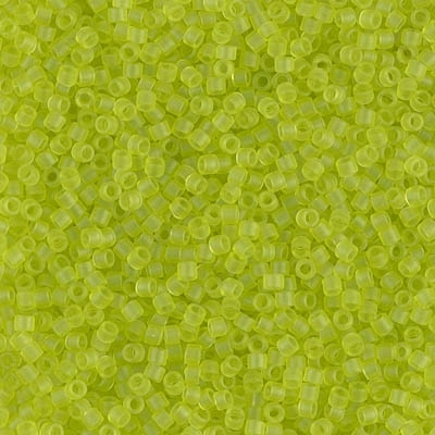 Miyuki Delica Seed Beads 5g 11/0 DB0766 T MA Lime Green