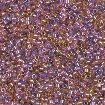 Miyuki Delica Seed Beads 5g 11/0 DB0982 ICL* Lt Purple/Soft Rose